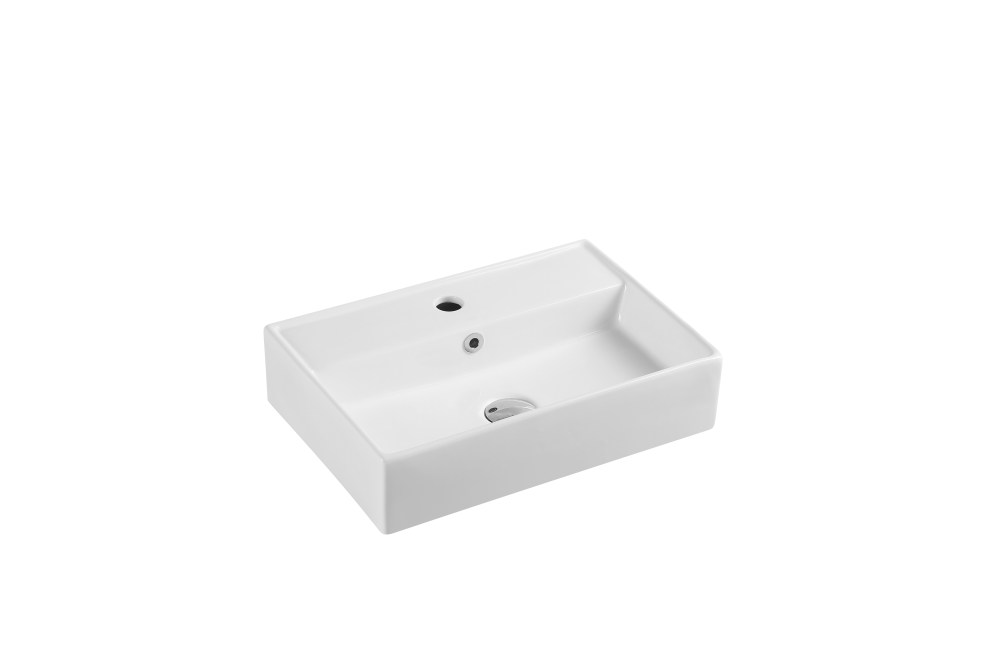 Kube Wall-Hung Rectangular Basin with Tap Hole (505x350)