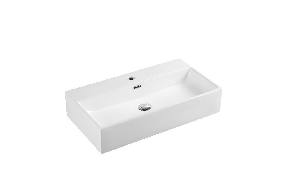 Kube Wall-Hung Rectangular Basin with Tap Hole (720x380)