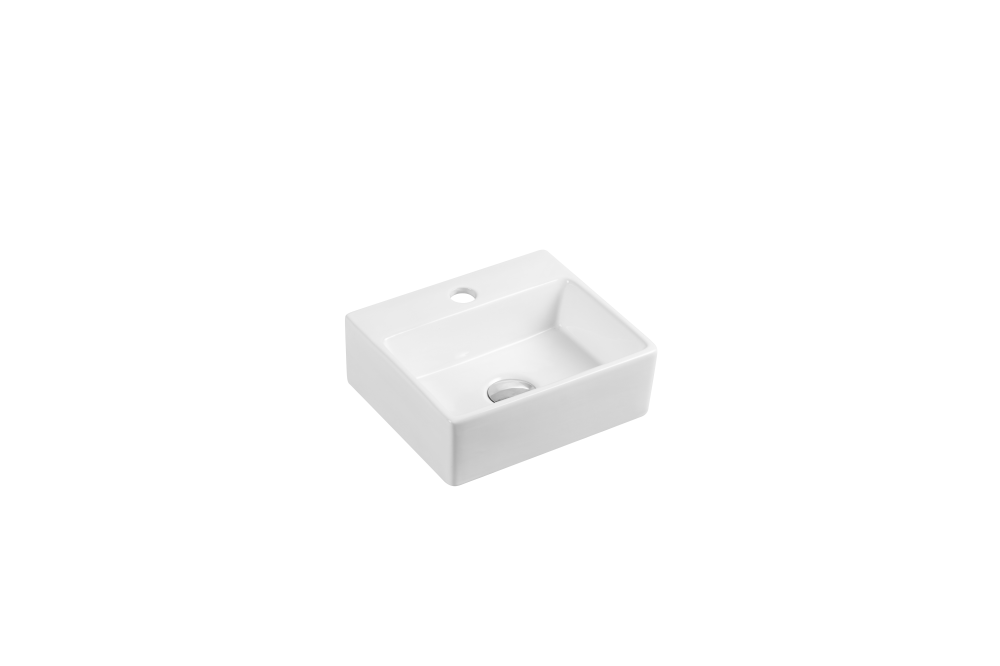 Mini Wall-Hung Rectangular Basin with Tap Hole (330x290)