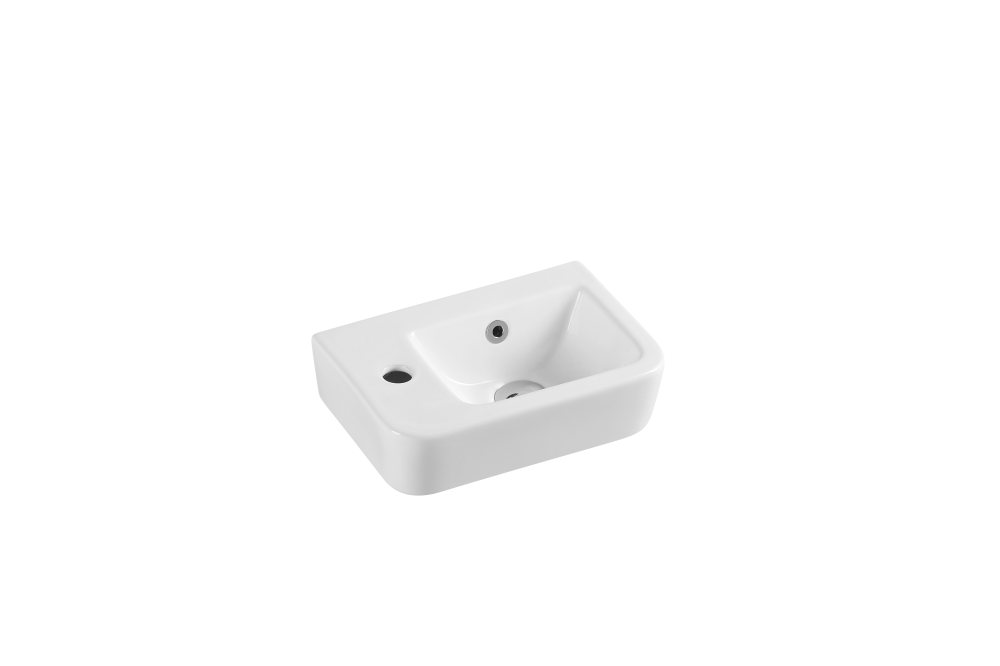 Mini Wall-Hung Rectangular Basin with Tap Hole (375x255)