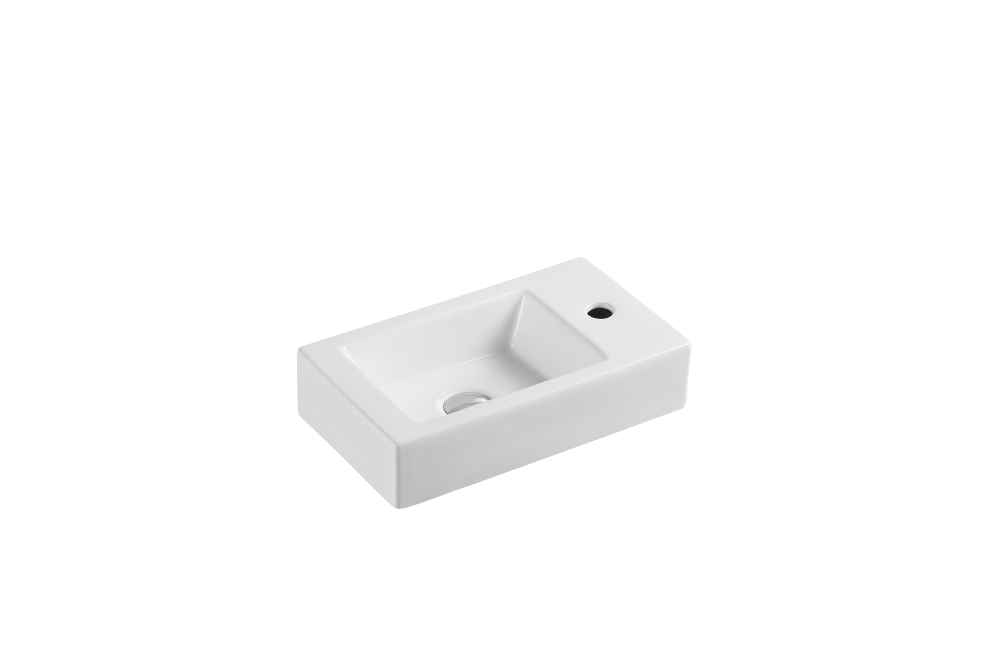 Mini Wall-Hung Rectangular Basin with Tap Hole (450x260)