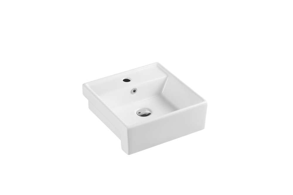Riff Semi-recessed Rectangular Basin (410x410)