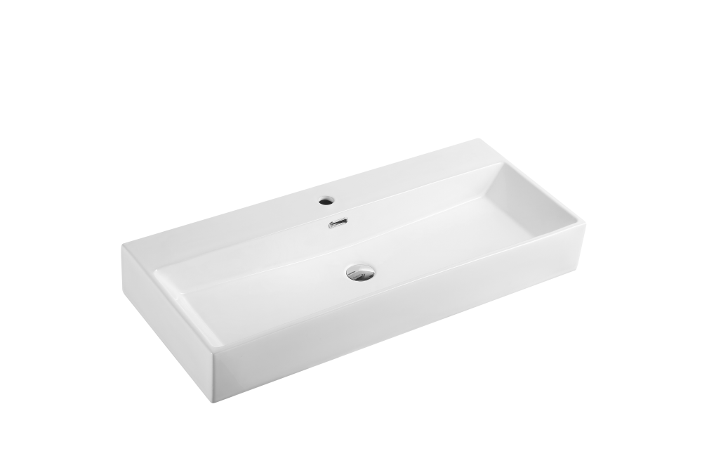 Vento Wall-Hung Rectangular Basin with Tap Hole (1000x420)