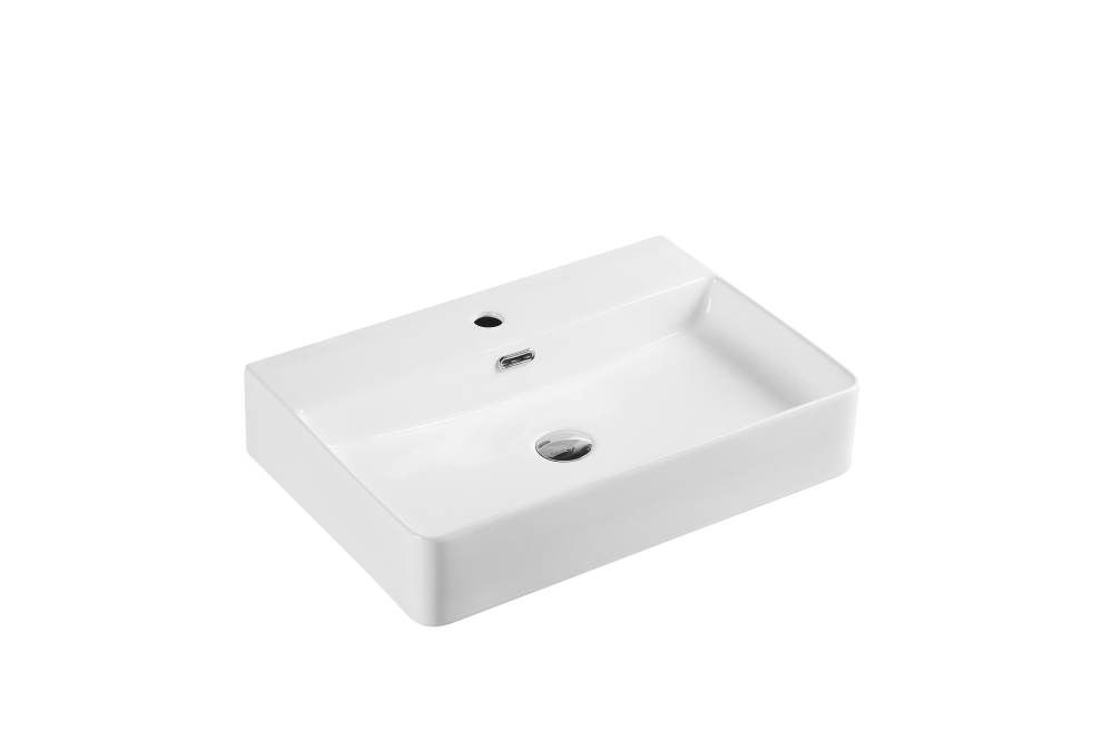 Vento Wall-Hung Rectangular Basin with Tap Hole (600x420)
