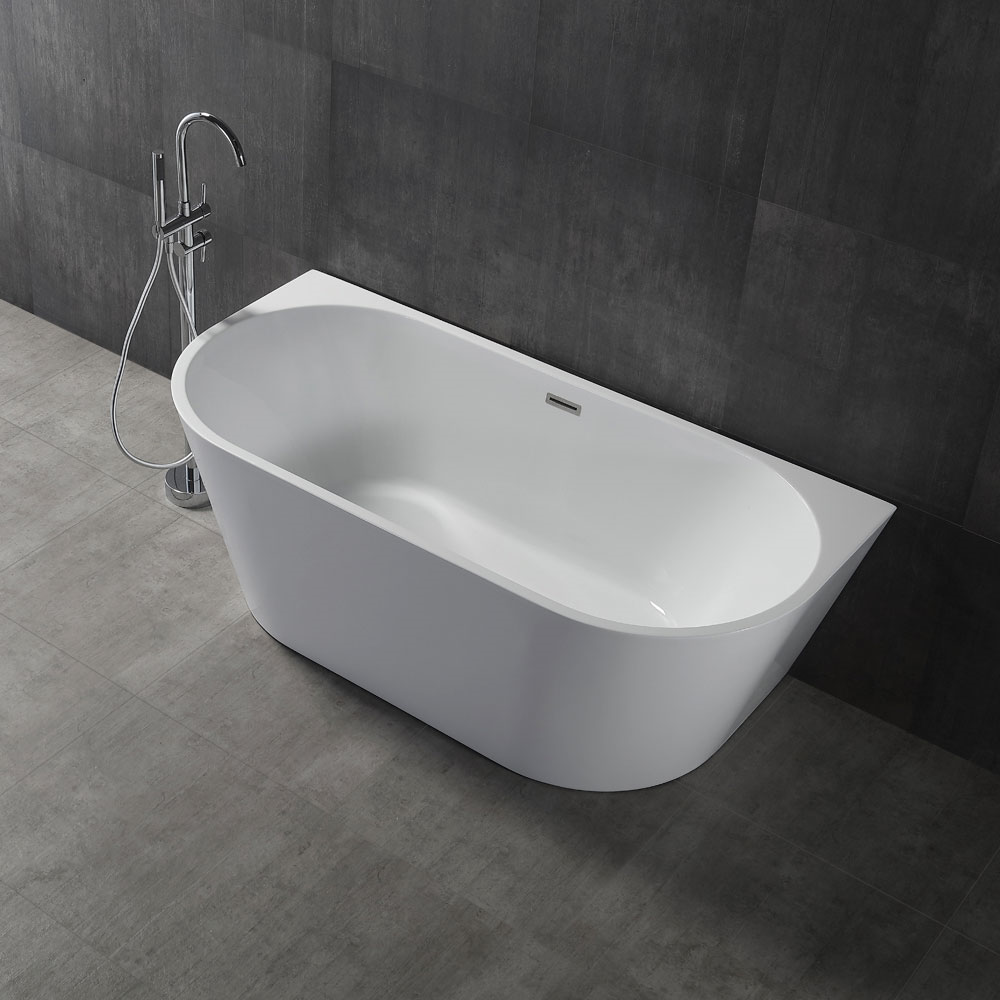 Castello 1500 Back to Wall Bath-Gloss White