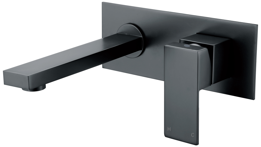 Cube Wall Mixer-Matt Black
