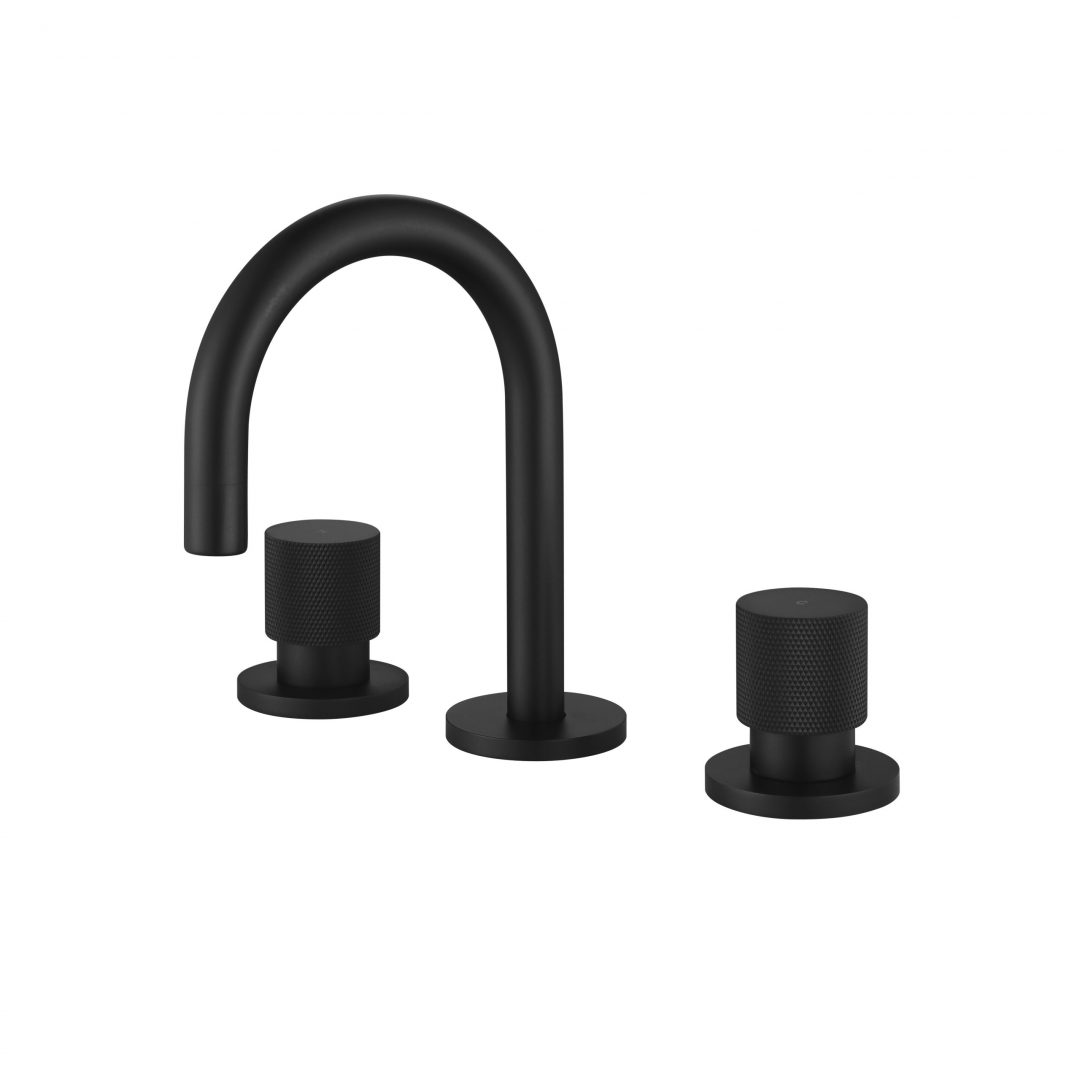 Cadence 1/4 Turn Basin Set-Matt Black