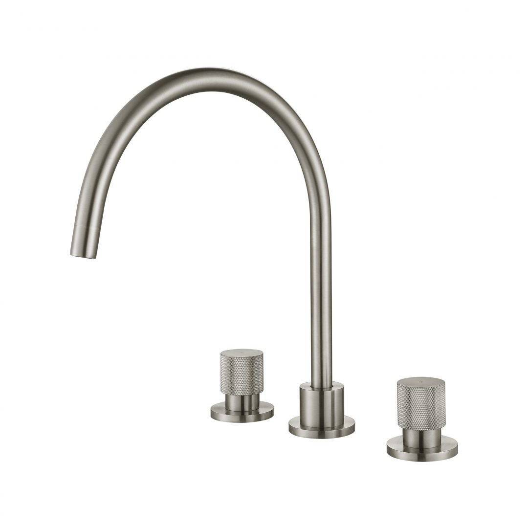 Cadence 1/4 Turn Kitchen Set-Brushed Nickel