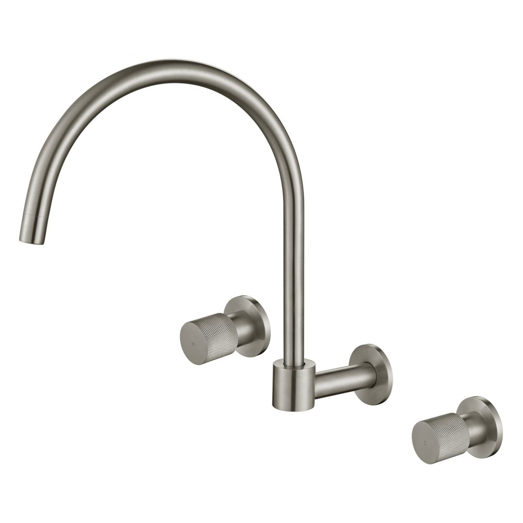 Cadence 1/4 Turn Wall Sink Set-Brushed Nickel