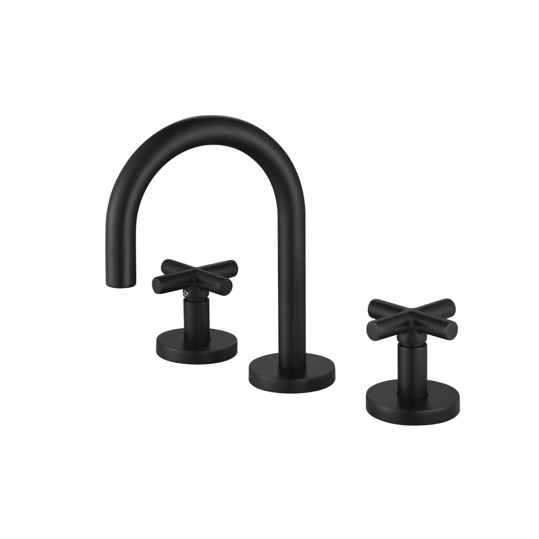 Ryker 1/4 Turn Basin Set-Matt Black