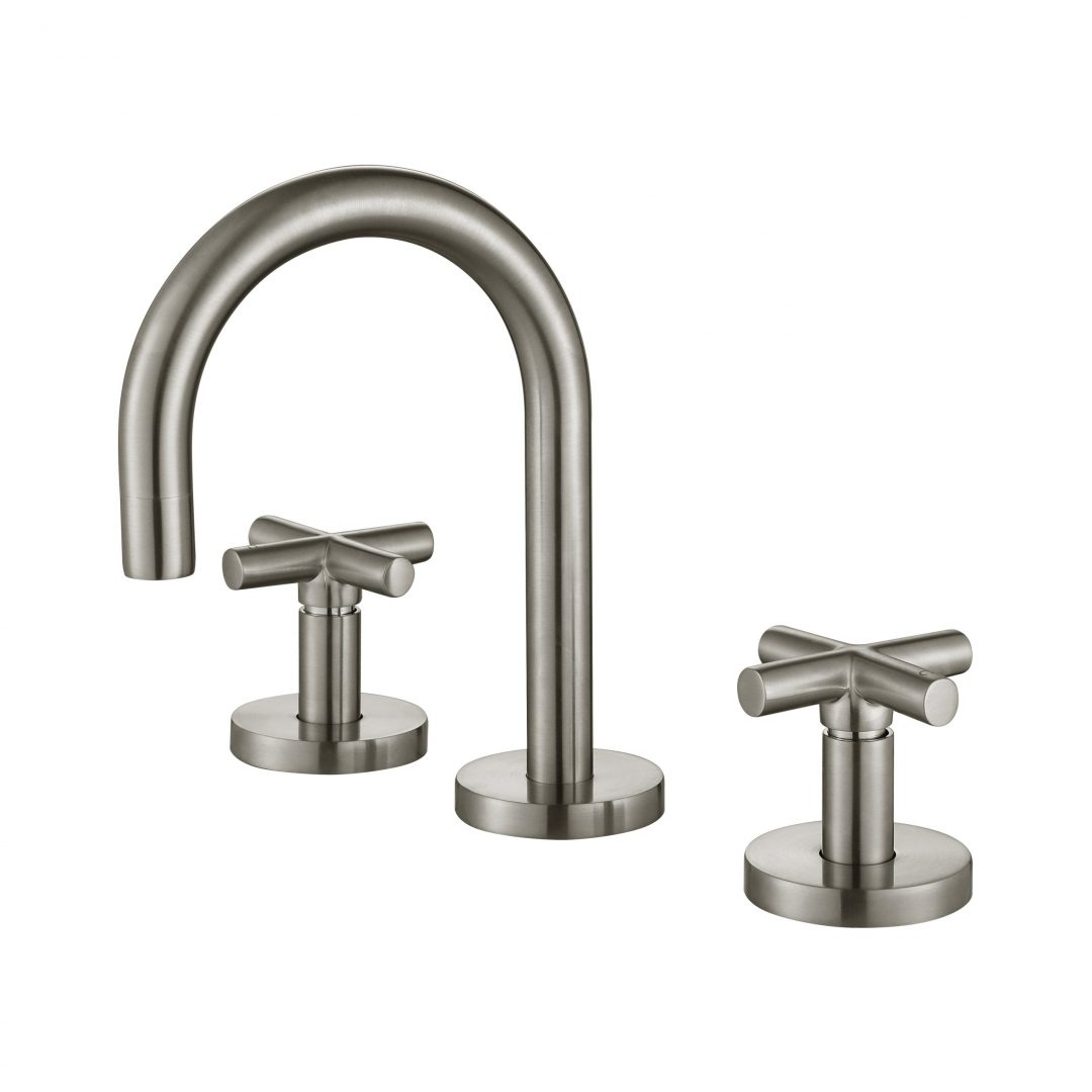 Ryker 1/4 Turn Basin Set-PVD Brushed Nickel