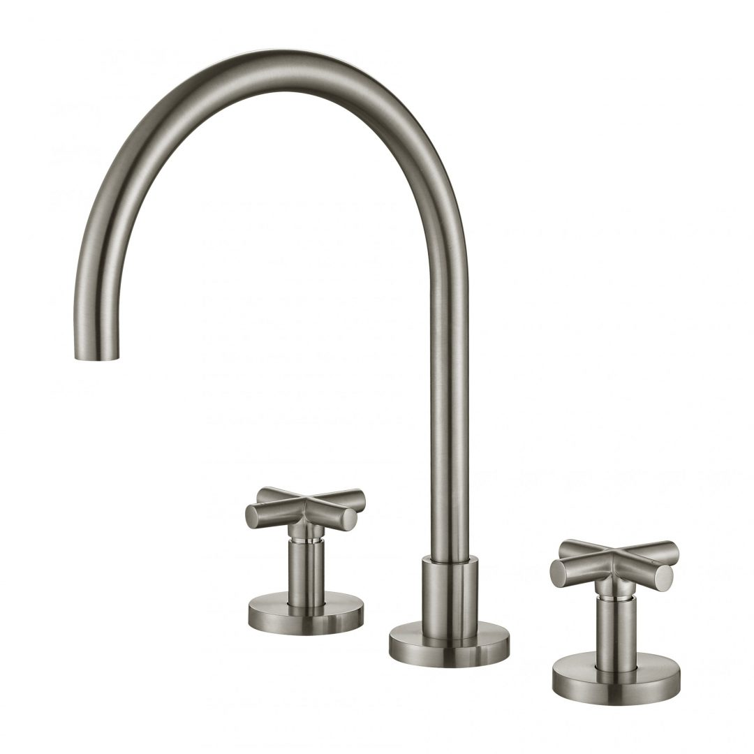 Ryker 1/4 Turn Kitchen Set-PVD Brushed Nickel