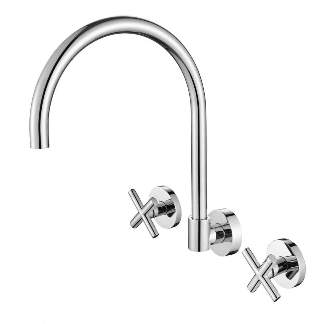 Ryker 1/4 Turn Wall Sink Set-Chrome