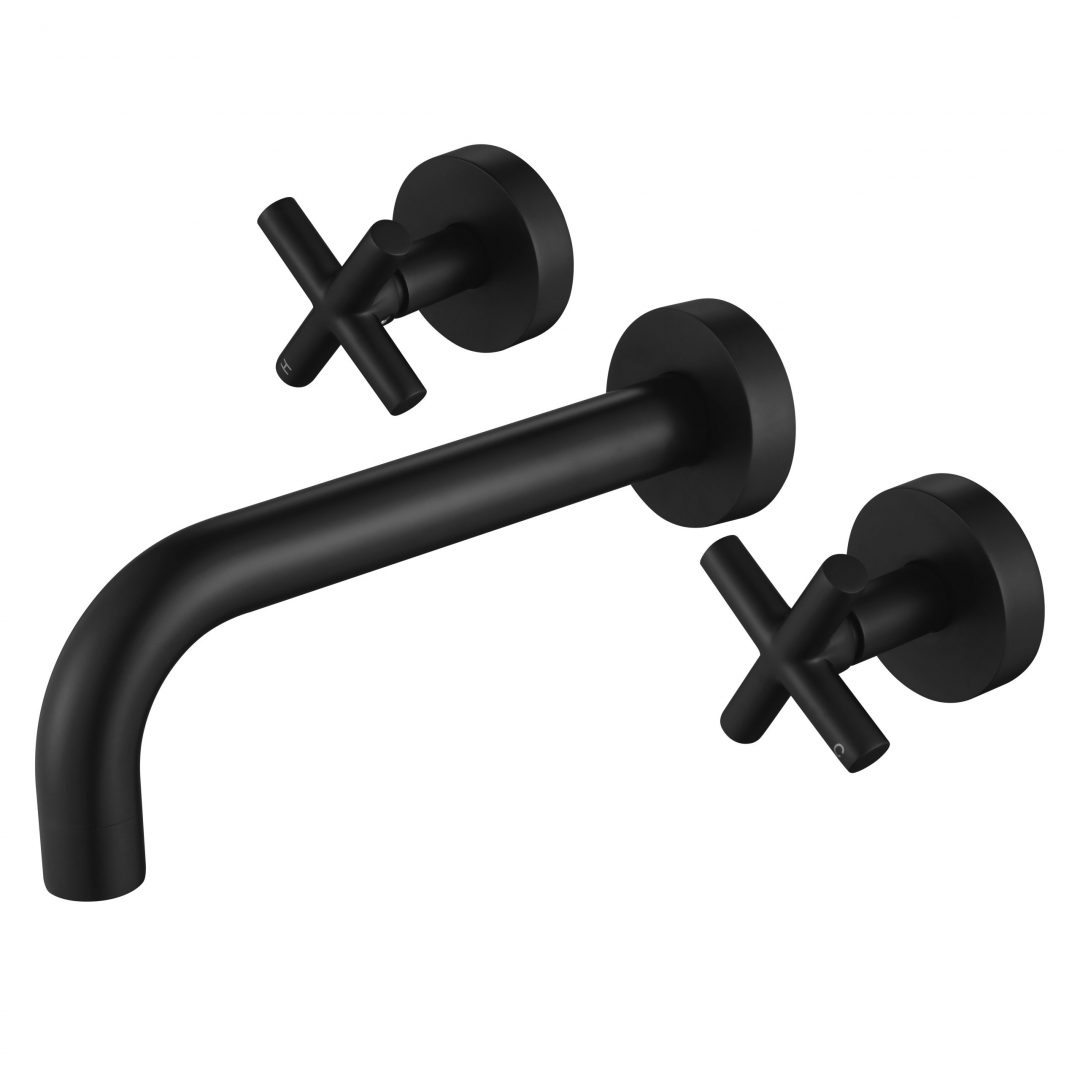 Ryker 1/4 Turn Bath Set-Matt Black