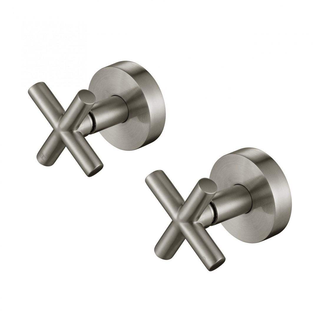 Ryker 1/4 Turn Wall Top Assemblies-PVD Brushed Nickel