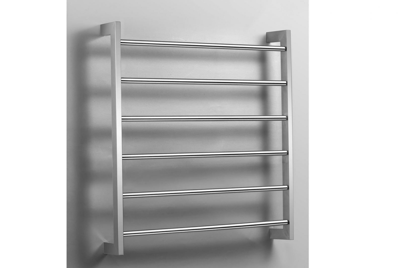 Caldo 6 Bar Heated Towel Rail Left Wiring- Chrome