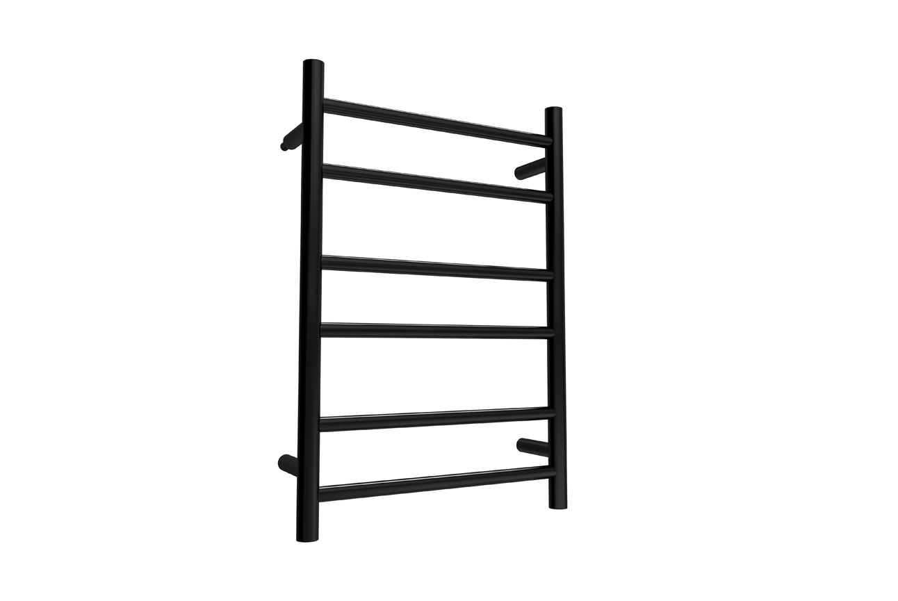Allegra 6 Bar Heated Towel Rail- Matt Black
