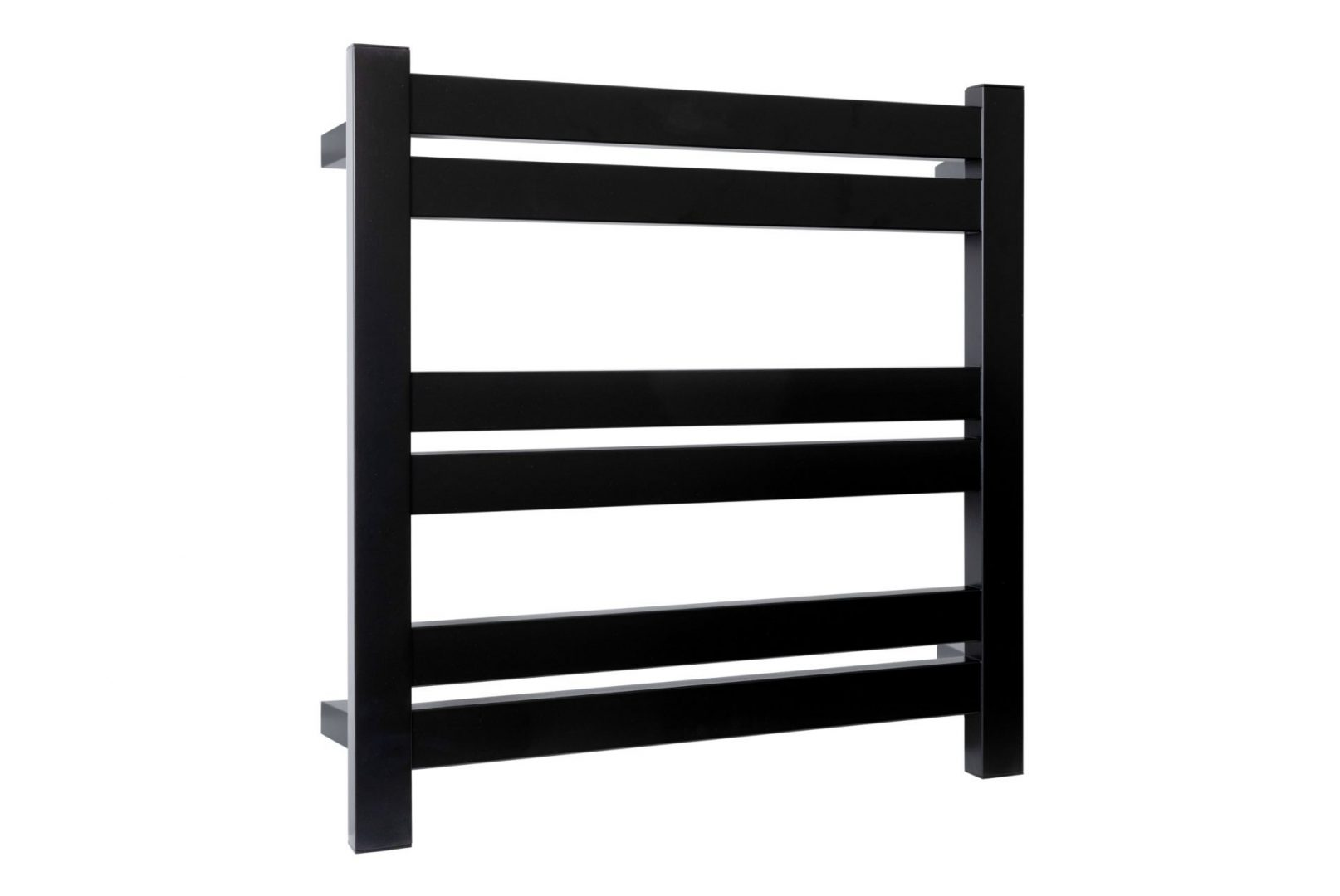 Siena 6 Bar Heated Towel Rail- Matt Black