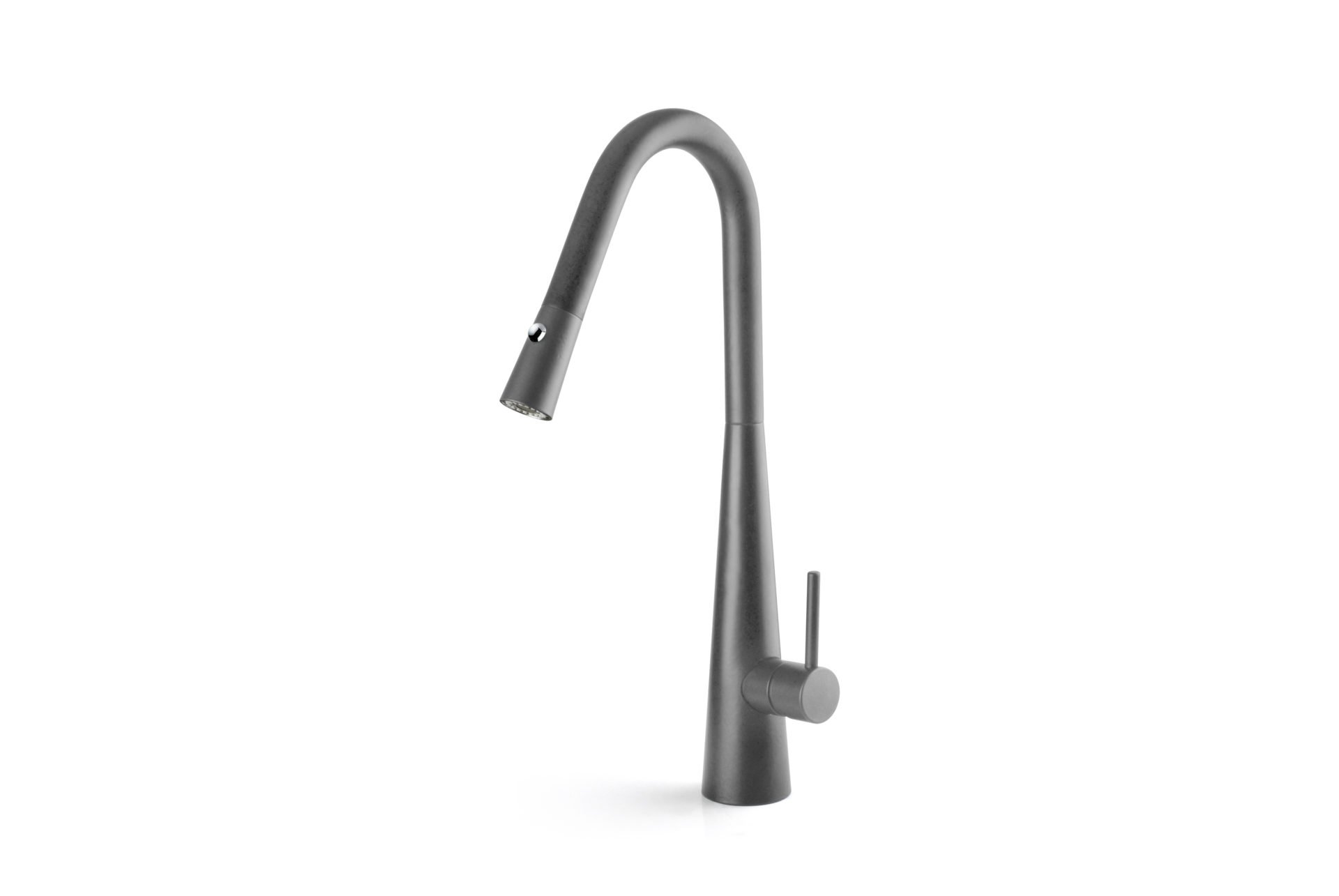Aria Pull Out Sink Mixer with Twin Spray- Grey Wolf