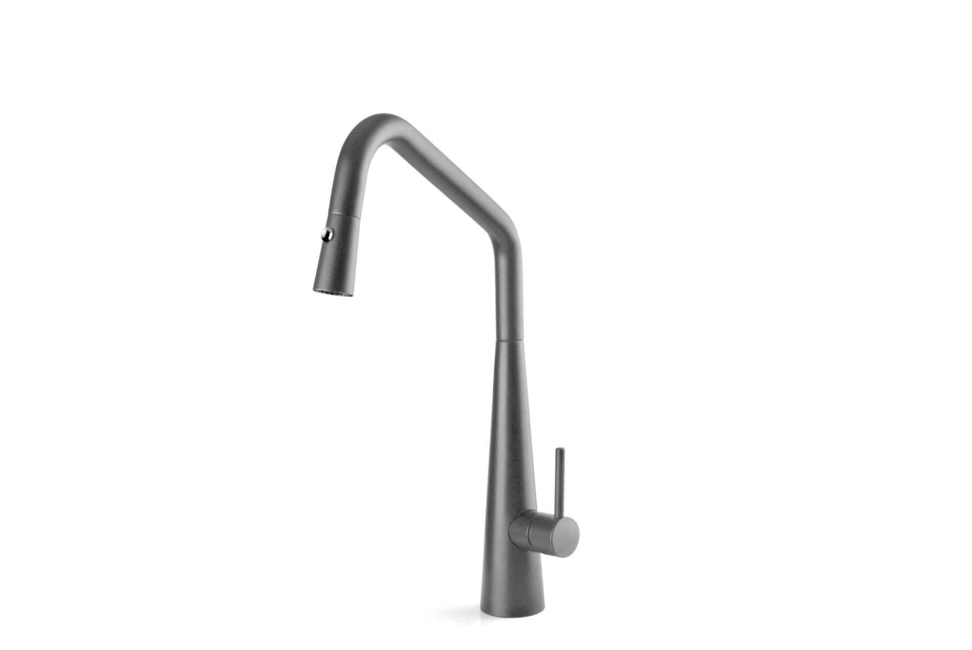 Elias Pull Out Sink Mixer with Twin Spray- Grey Wolf