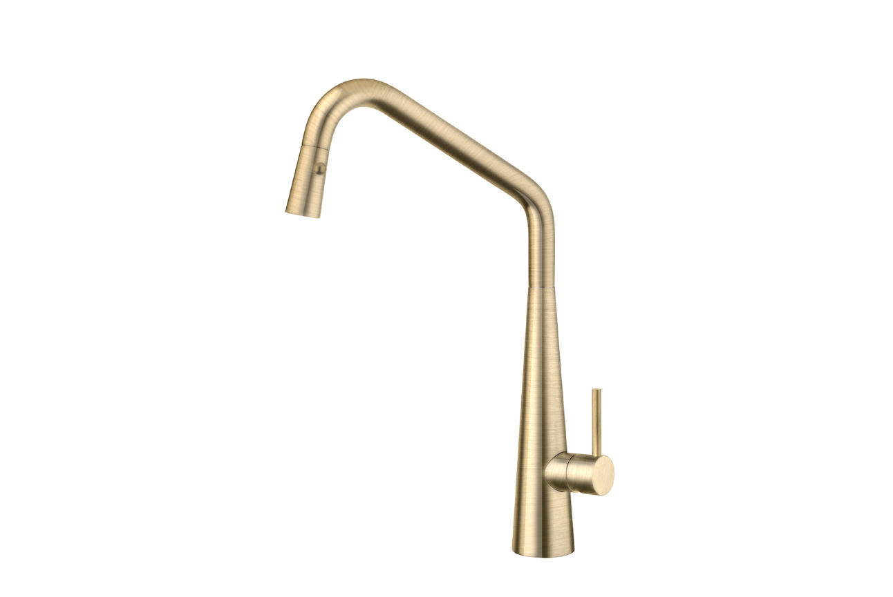 Elias Pull Out Sink Mixer with Twin Spray- Oiled Bronze