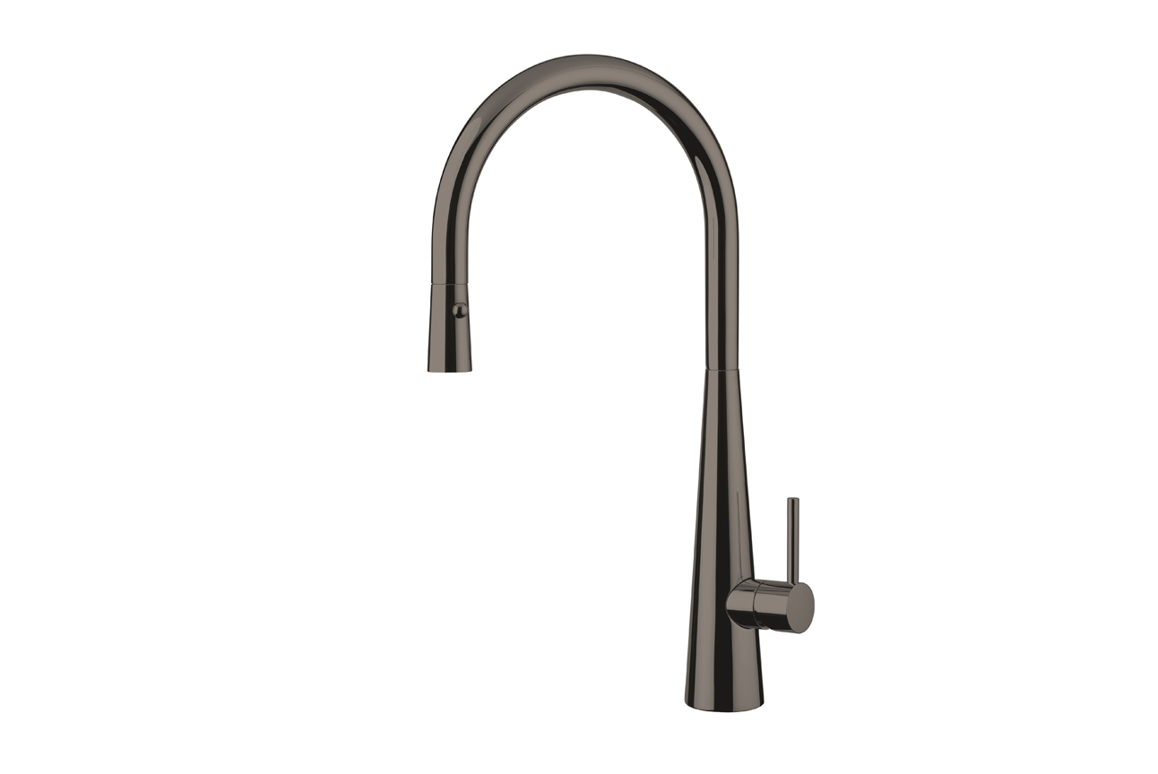Giacomo Pull Out Sink Mixer with Twin Spray- Black Chrome