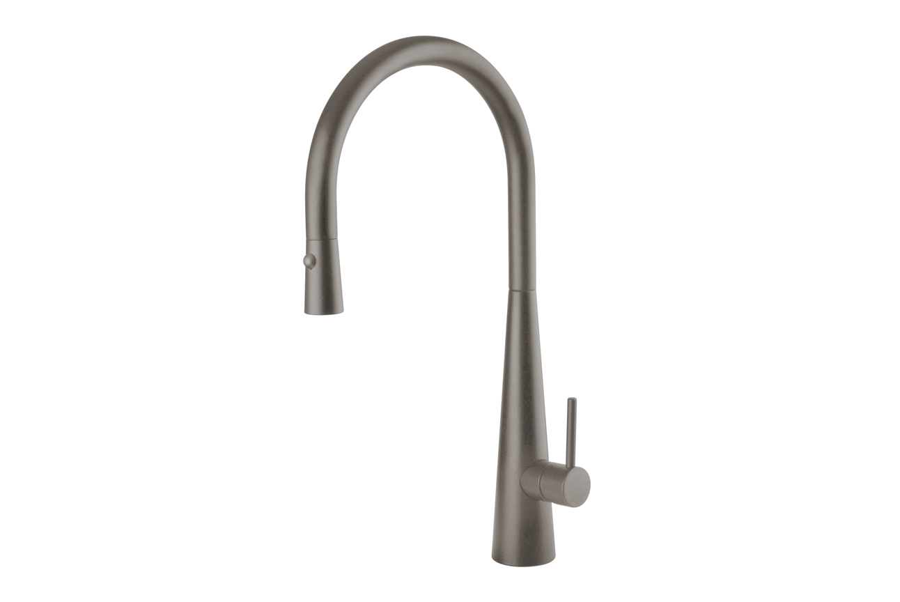 Giacomo Pull Out Sink Mixer with Twin Spray- Gun Metal