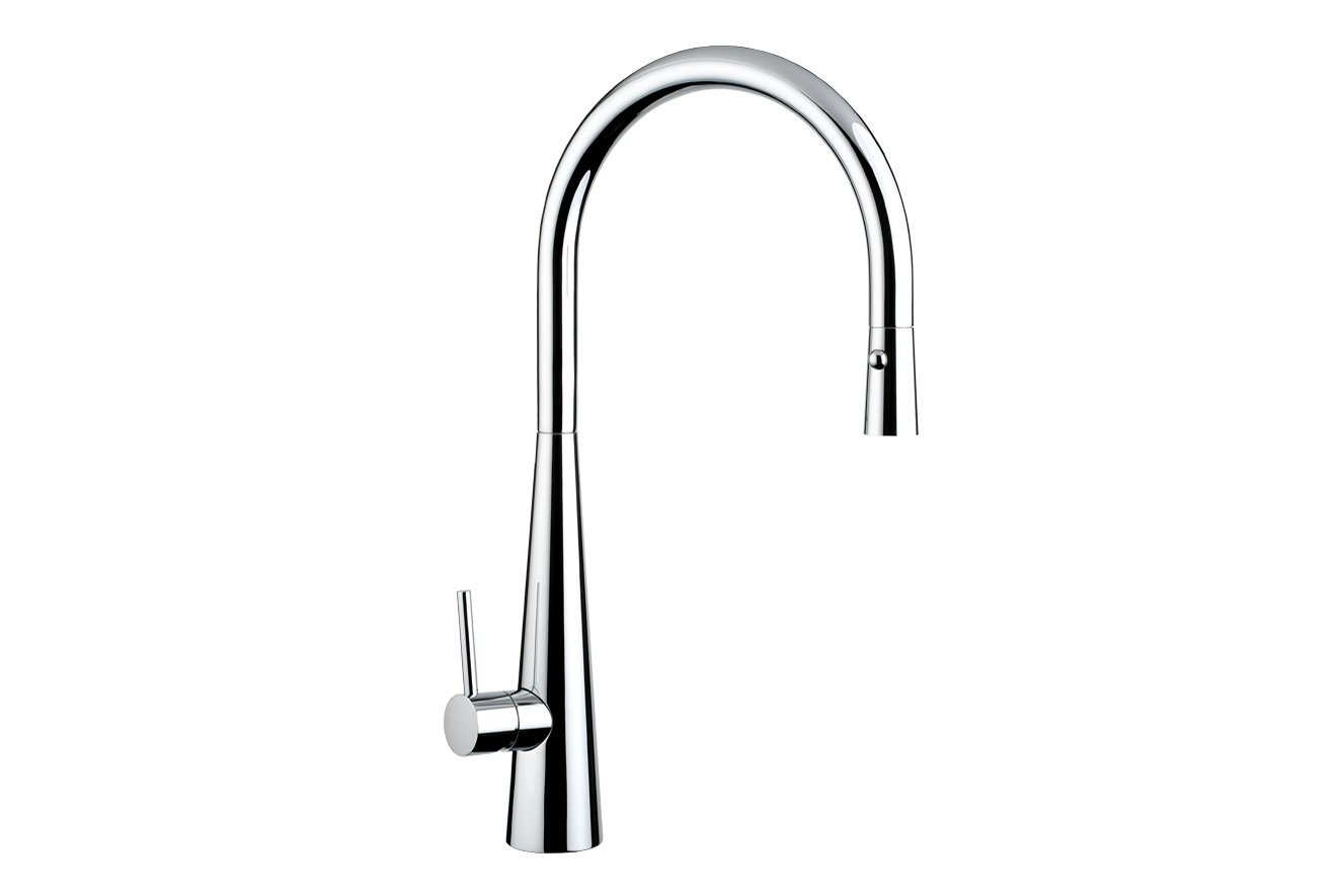 Giacomo Pull Out Sink Mixer with Twin Spray- Chrome
