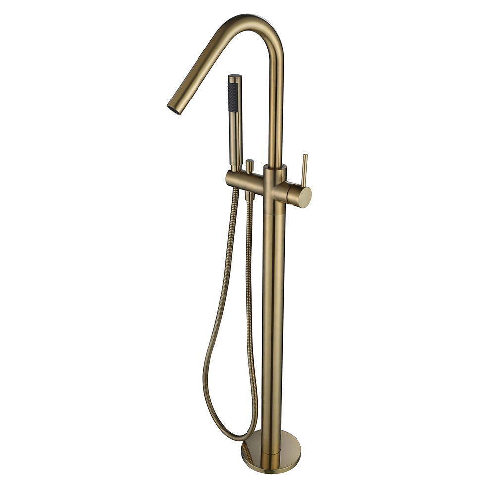 Star Free Standing Bath Mixer With Hand Shower -PVD Brushed Bronze