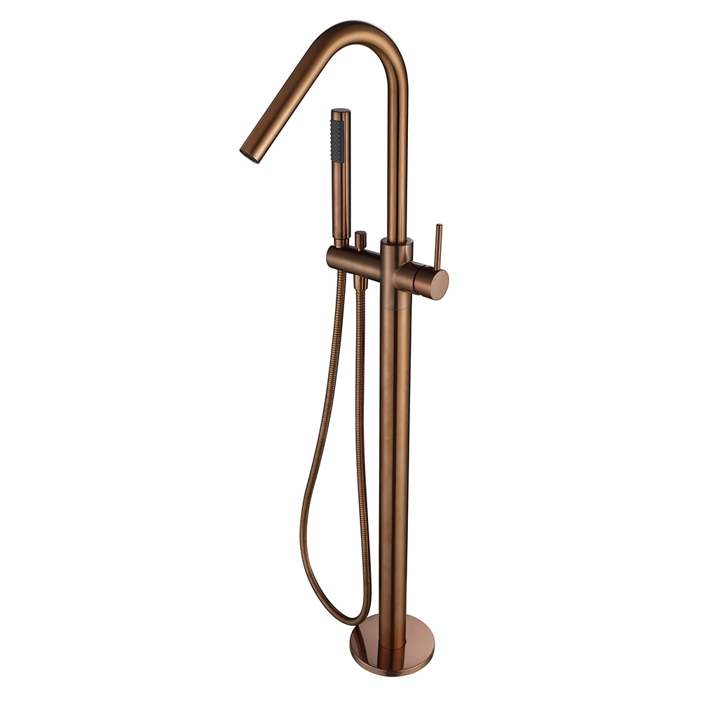 Star Free Standing Bath Mixer With Hand Shower -PVD Champagne