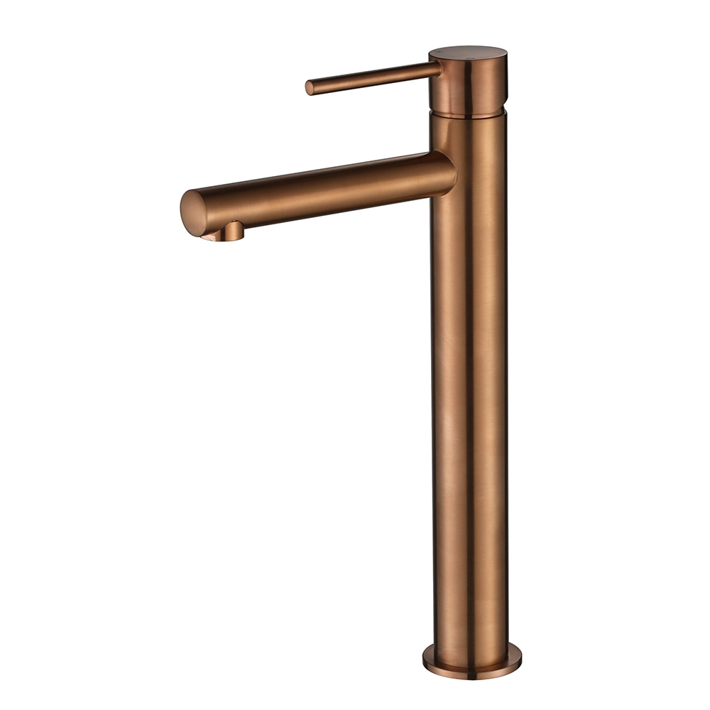 Star Mini High Rise Basin Mixer-PVD Champagne