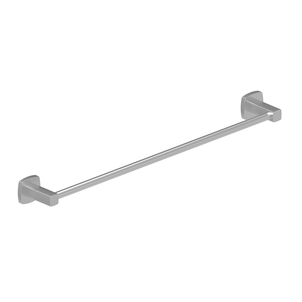 Luxus 600 Single Towel Rail-Brushed Nickel