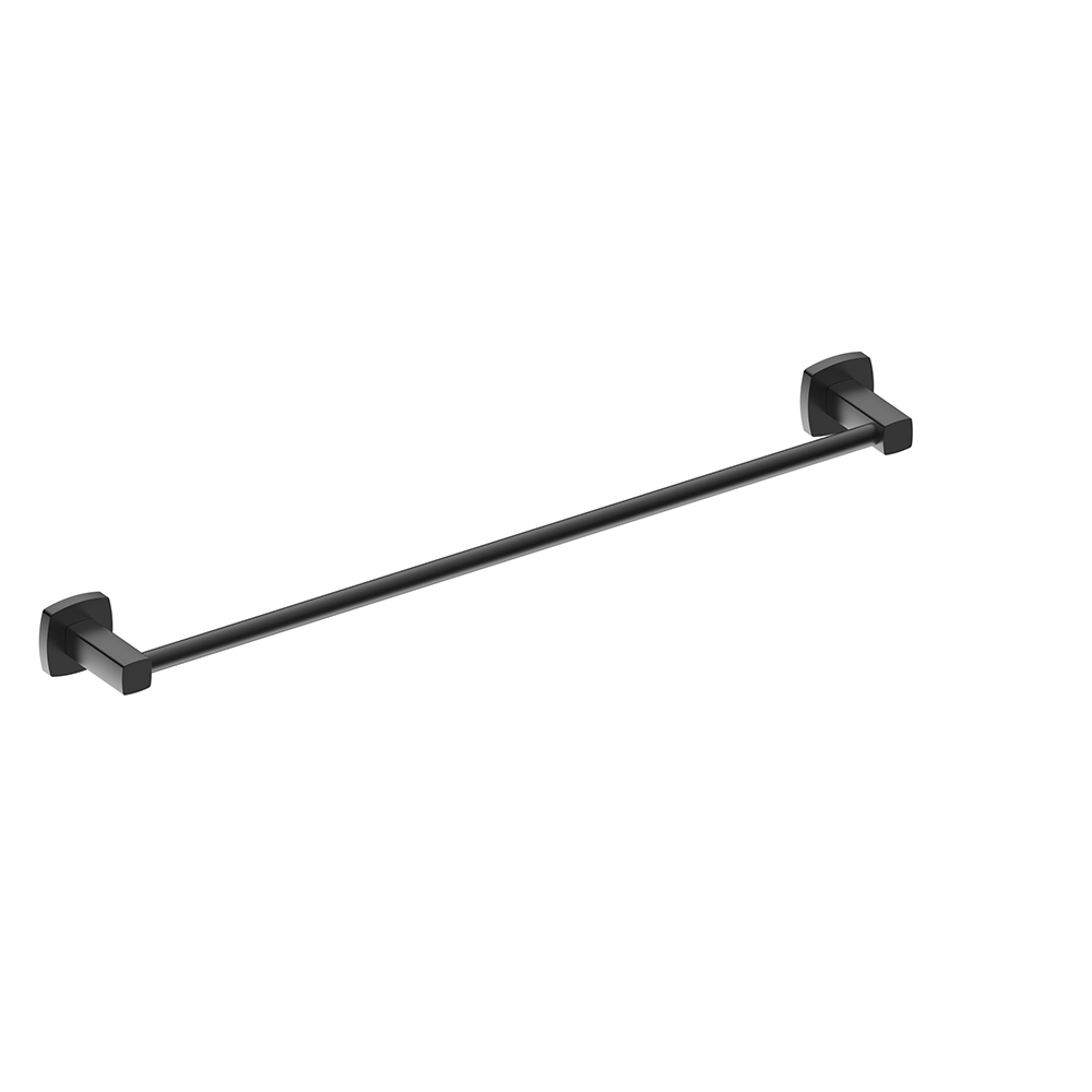 Luxus 600 Single Towel Rail-Matt Black