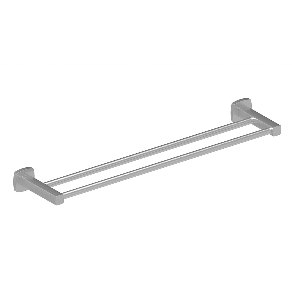 Luxus 600 Double Towel Rail-Brushed Nickel