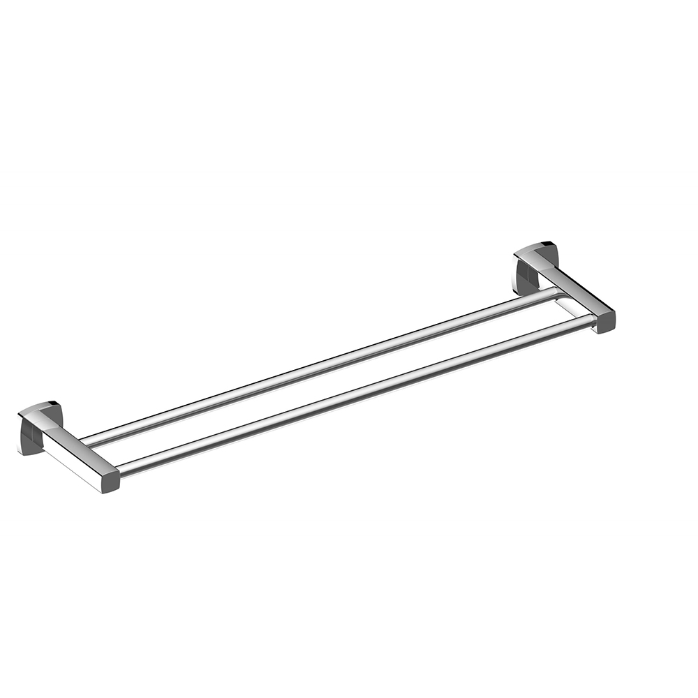 Luxus 600 Double Towel Rail-Chrome