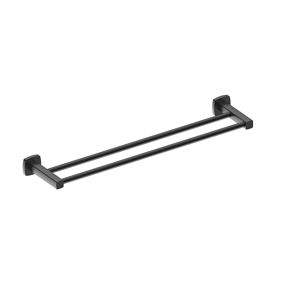 Luxus 600 Double Towel Rail-Matt Black