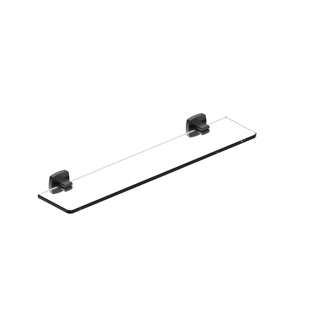 Luxus Glass Shelf-Matt Black