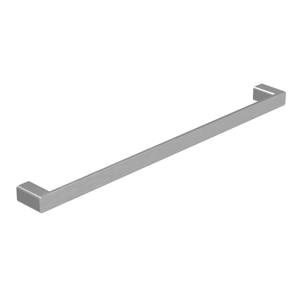 Kasten 600 Single Towel Rail-Brushed Nickel