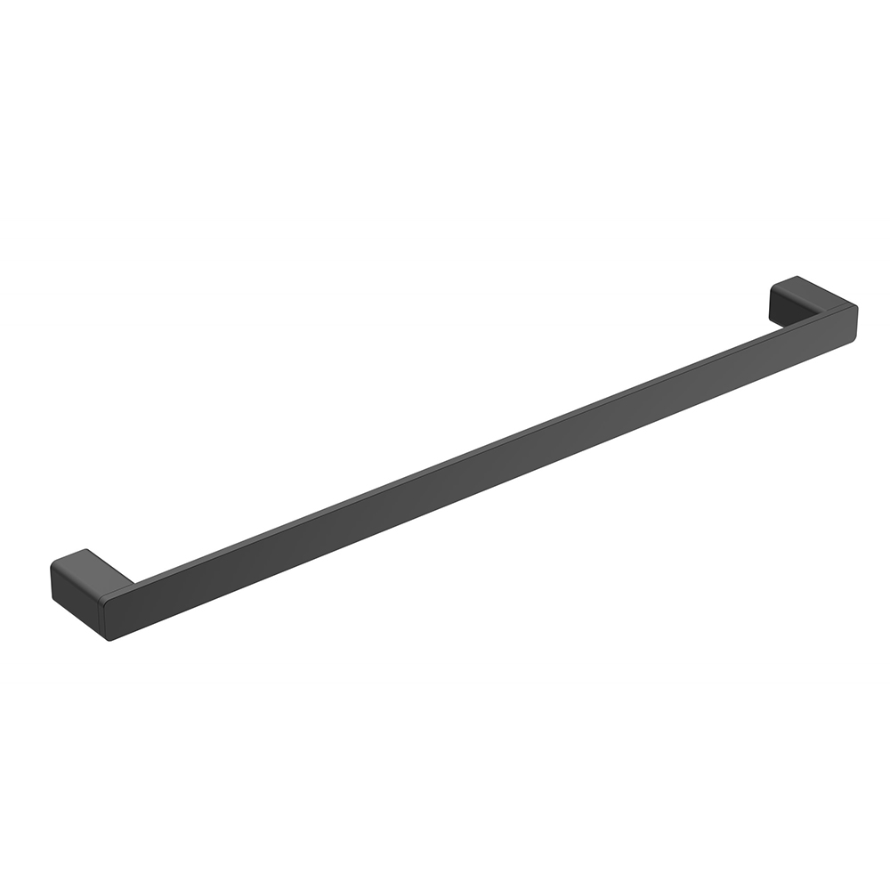 Kasten 600 Single Towel Rail-Matt Black