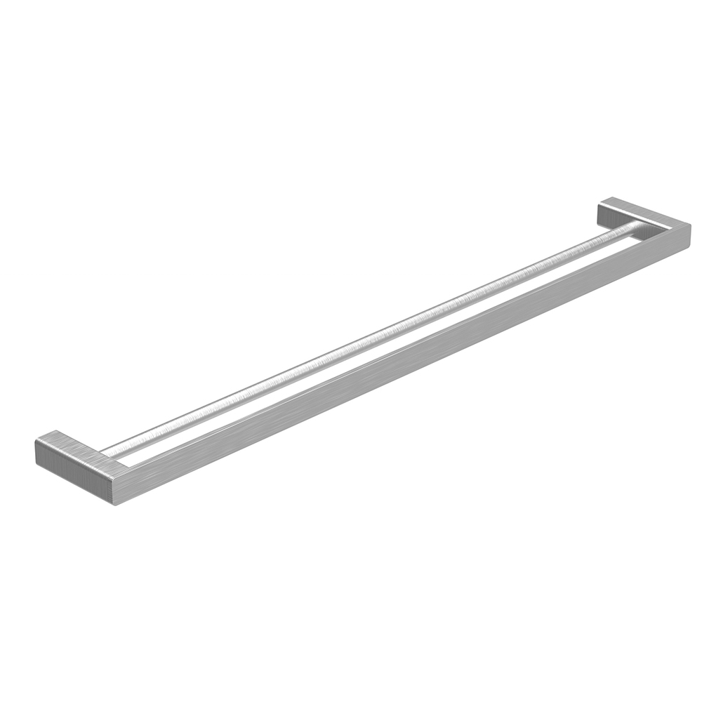 Kasten 600 Double Towel Rail-Brushed Nickel