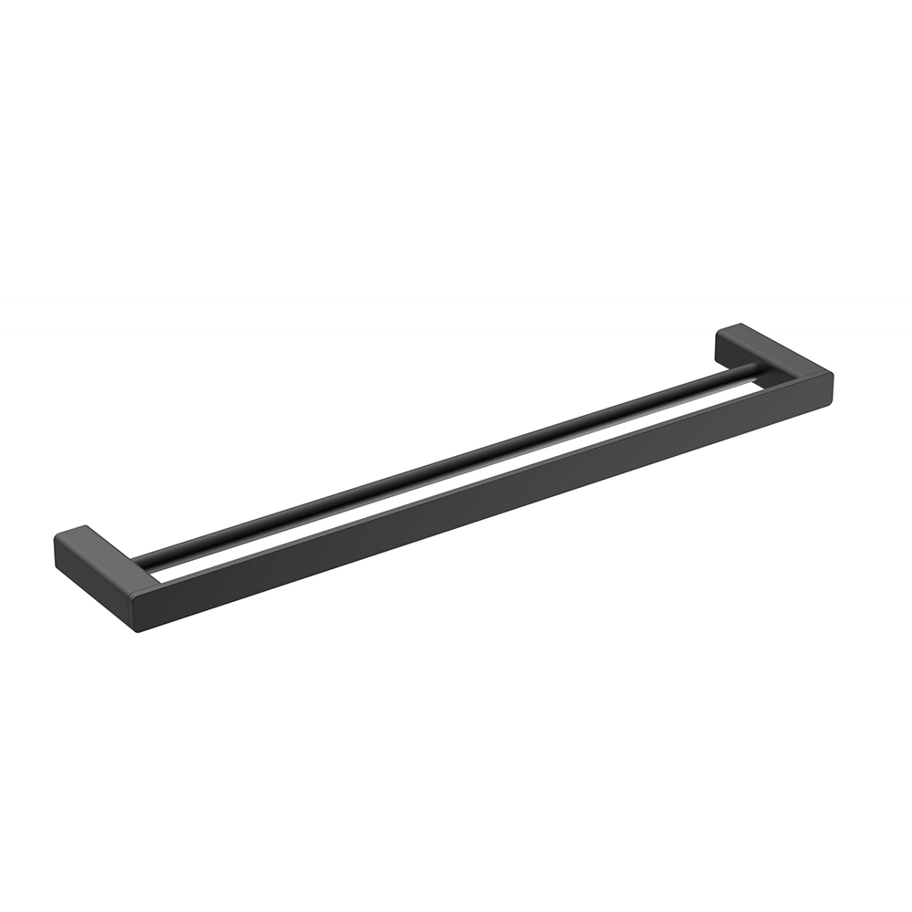 Kasten 600 Double Towel Rail-Matt Black
