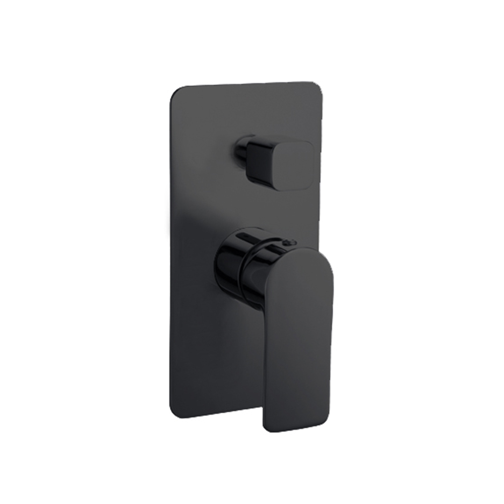 Lex Shower Diverter-Matt Black