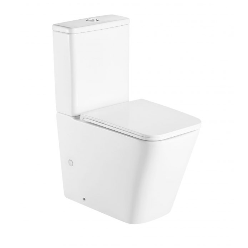 Qube Compact Back To Wall Toilet Suite-Rimless