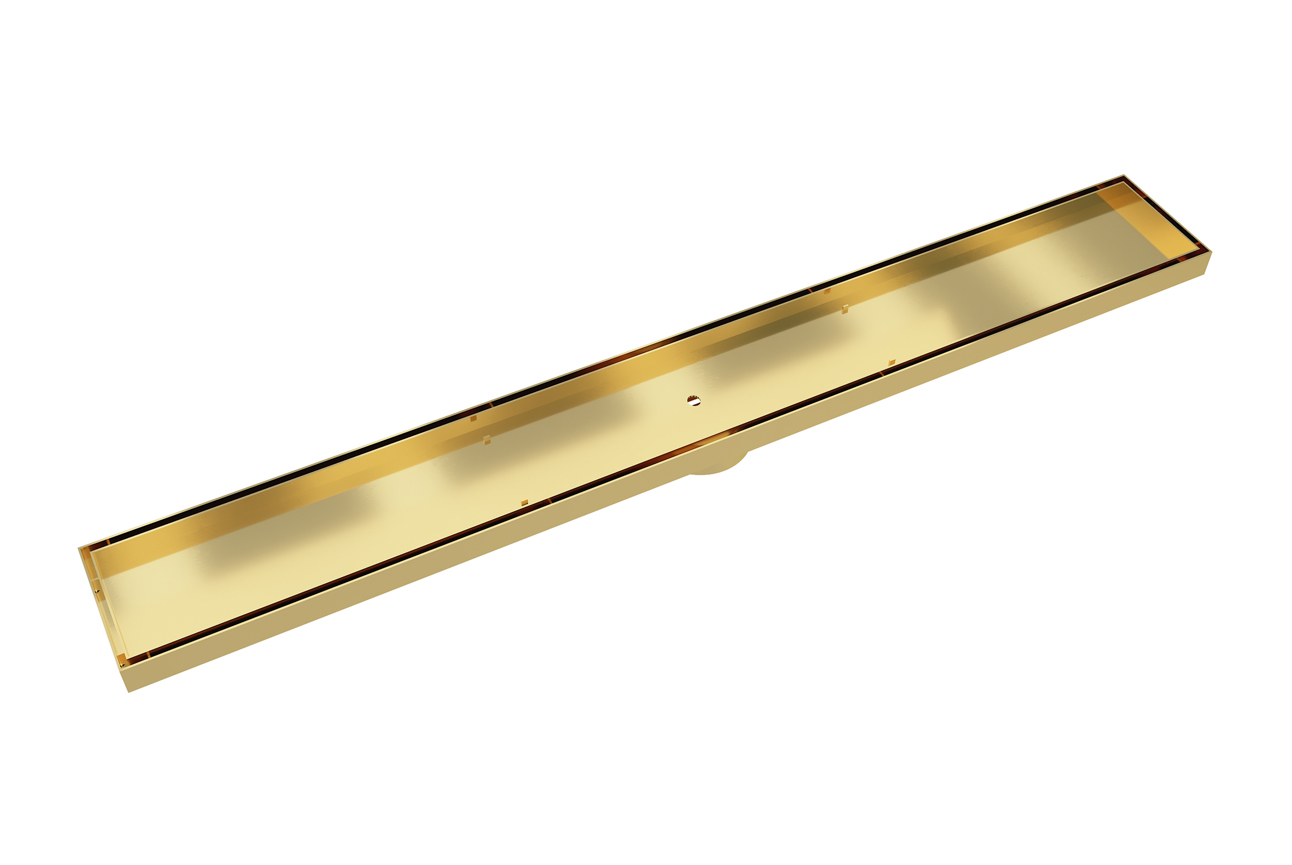 EzyFlow 800 Tile Insert Channel Grate- Brushed Brass