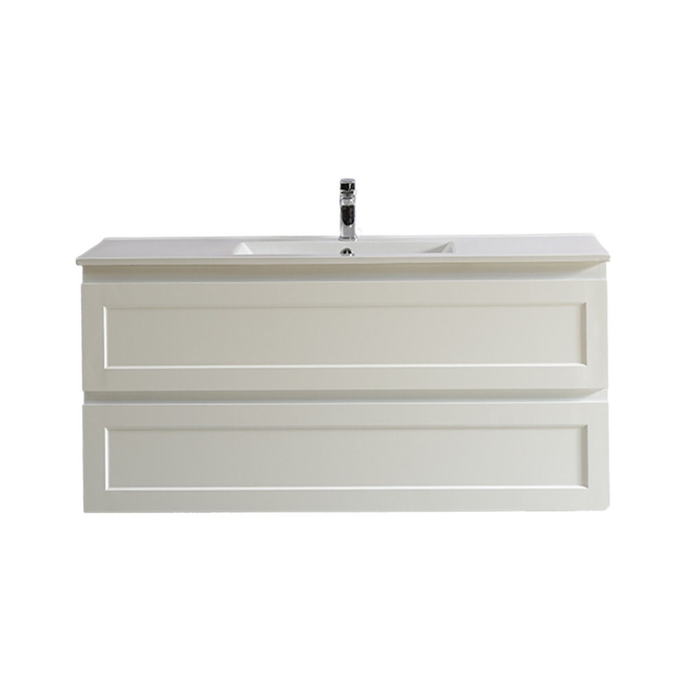 Fremantle 1200 Wall Hung Vanity-Matt White