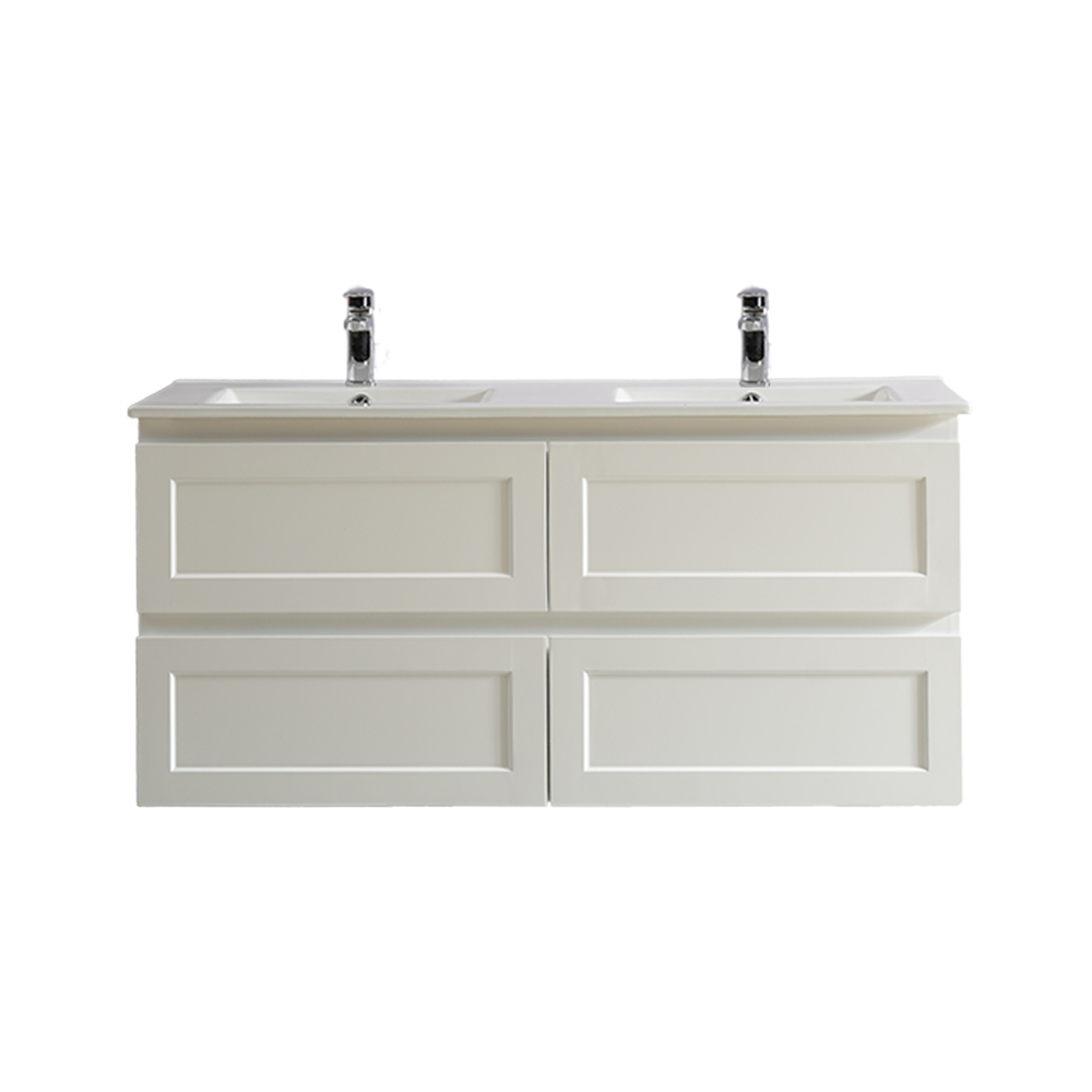 Fremantle 1200 Double Wall Hung Vanity-Matt White