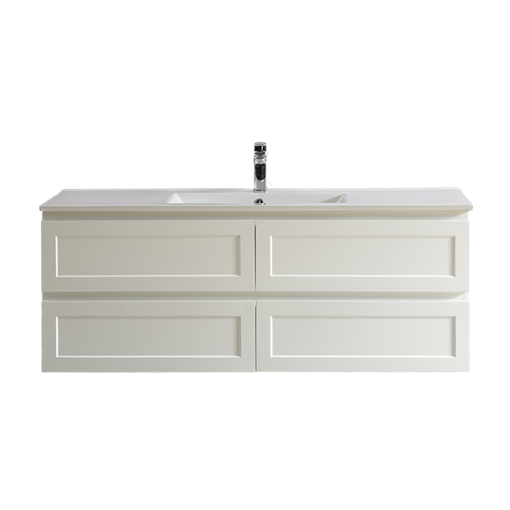 Fremantle 1500 Wall Hung Vanity-Matt White