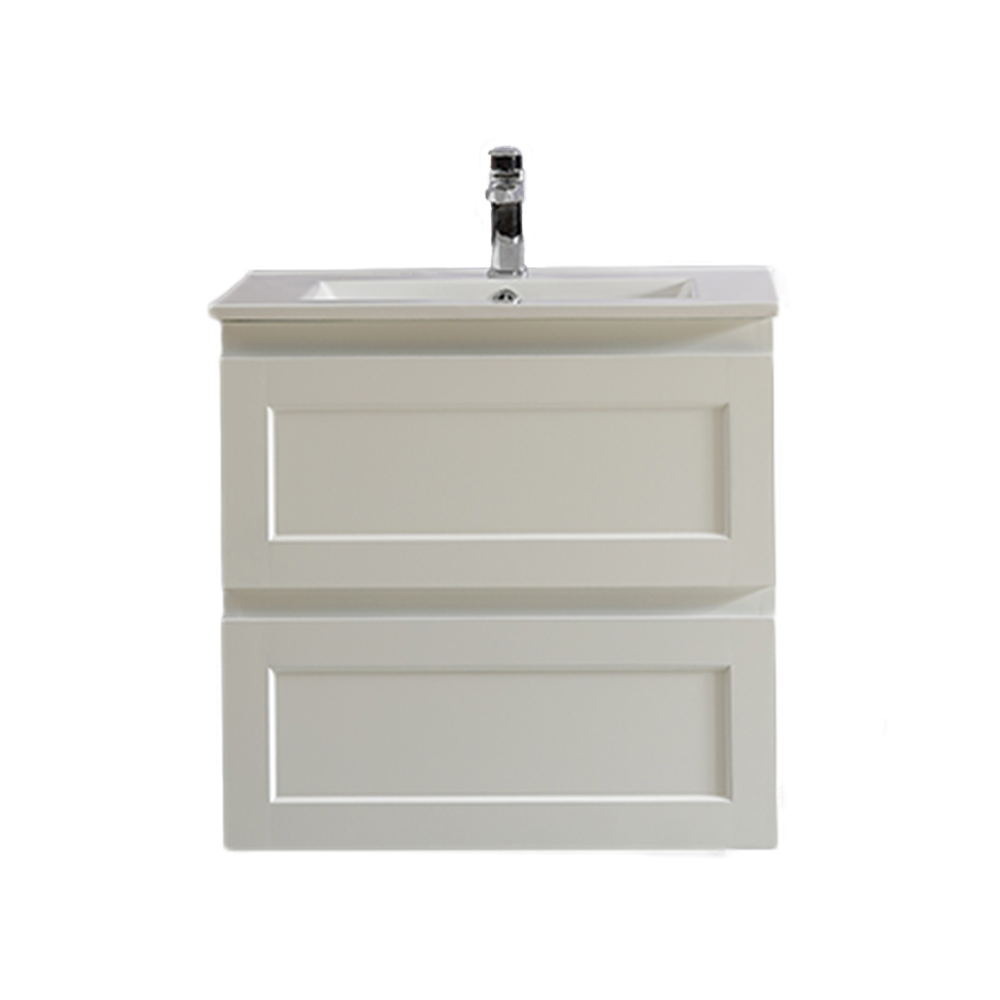 Fremantle 600 Wall Hung Vanity-Matt White