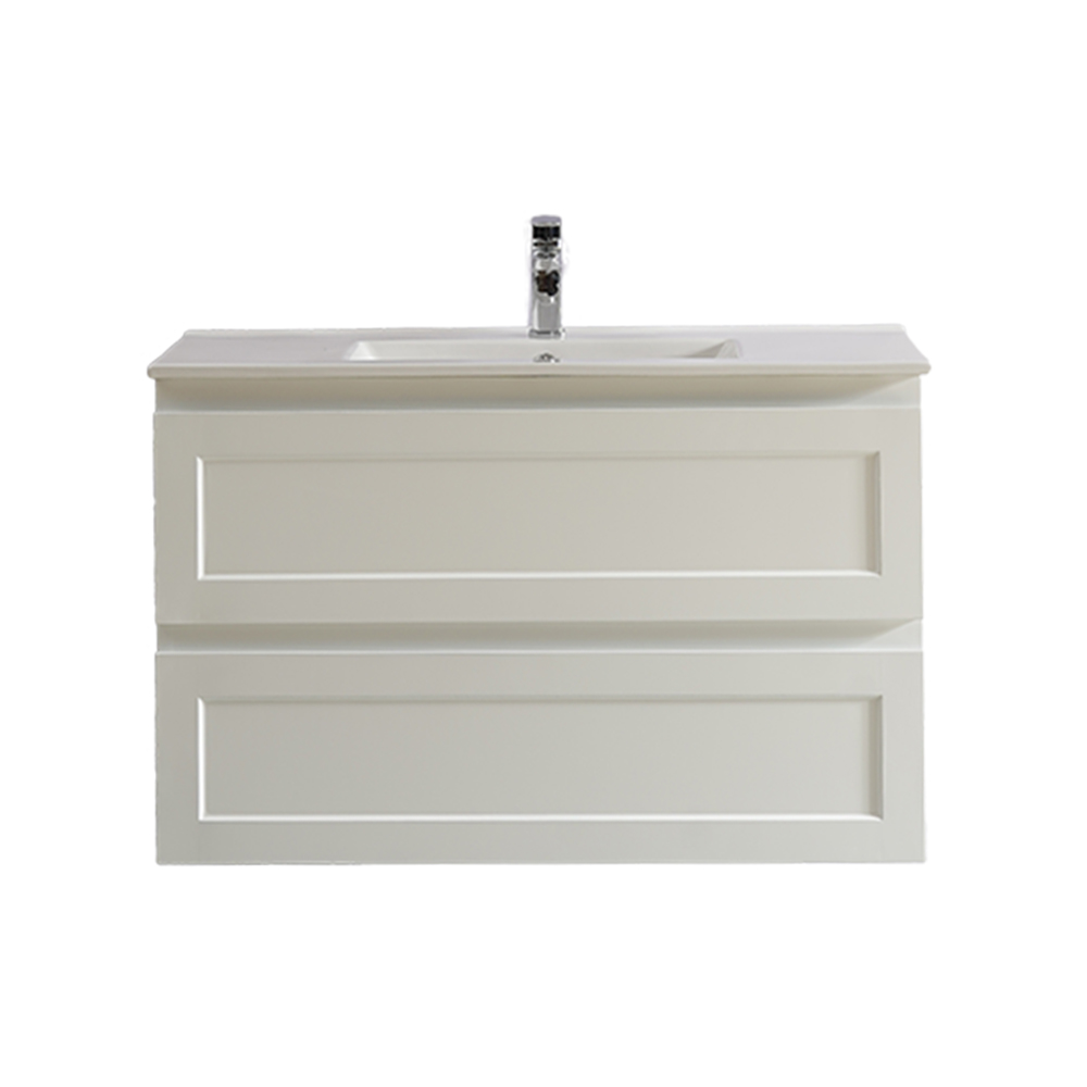 Fremantle 900 Wall Hung Vanity-Matt White