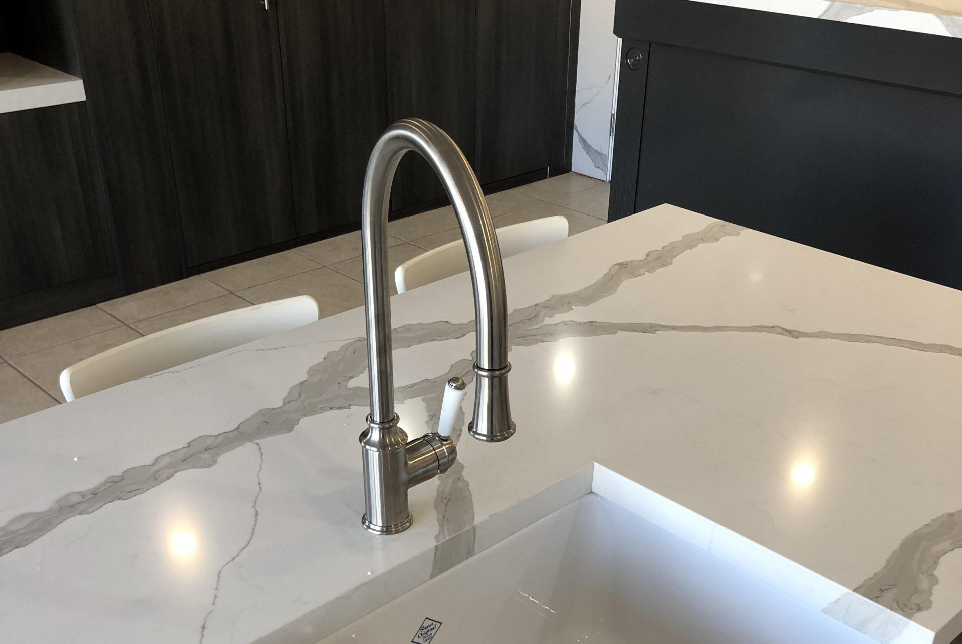 Tommy Pull Out Sink Mixer with Twin Spray- Brushed Nickel